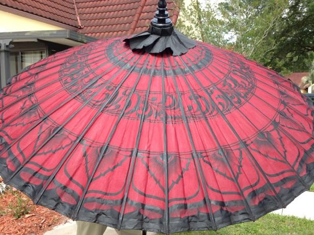 red pathein umbrella