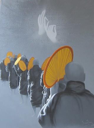 turn-back-byKAUNG PAING acrylic on canvas